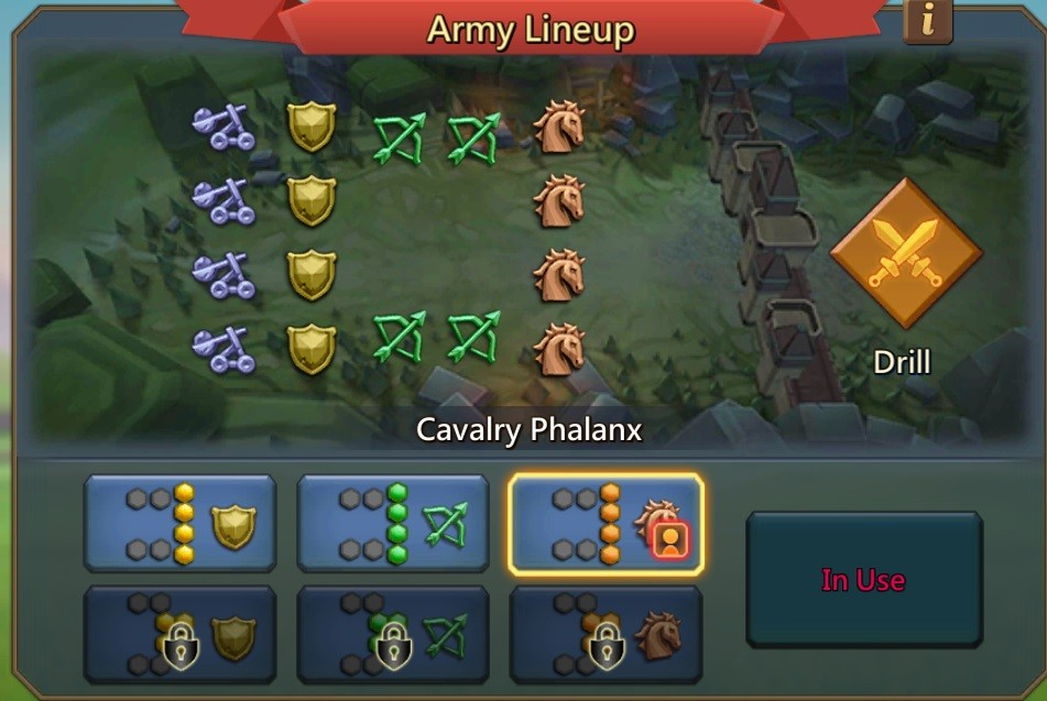 Army Lineup